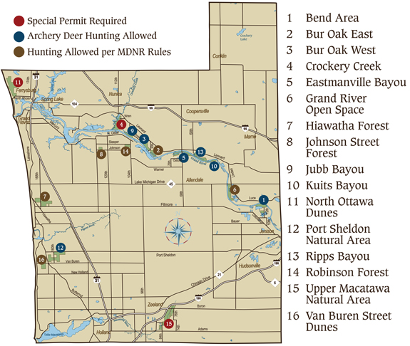 Hunting On Parks Recreation Properties Ottawa County Michigan